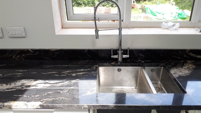Titanium Granite fitted this morning at Armthorpe   Antiquity Marble